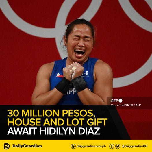 30 Million Pesos, House and Lot Gift await Hidilyn Diaz
